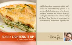 Bobby's Lighter Spinach and Bacon Quiche