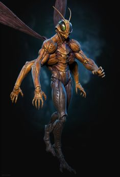by Piloni on DeviantArt Monster Concept Art, Alien Concept Art, Creature Concept Art, Monster Art, Creature Design, Alien Creatures, Fantasy Creatures, Mythical Creatures, Fantasy Inspiration
