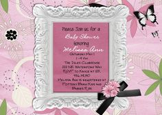 Pink Baby Shower Invitation  You Print Digital File by 3PeasPrints, $16.00