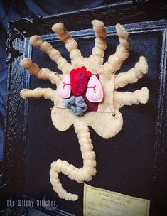 Alienus Parasitoid (Facehugger) Felt Anatomy ~ PDF Pattern | The Witchy Stitcher