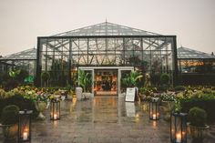 Providing views of the stars on a clear night & natural light during the day, this Michigan greenhouse venue is perfect for any party.
