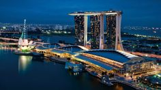 Singapore, Singapore. Marina Bay Sands Hotel. The Chairman Suite costs $17,000 per night.