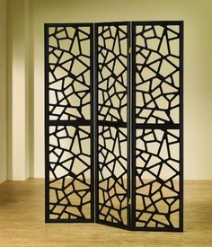 """Intricate Mosaic Three Panel Folding Screen - Room Divider by Best Deal Stores. $120.44. Dimension:  70.25""""H x 52""""W. Intricate mosaic cuts on each panel. 3 Panel Folding Screen. Create a multi-purpose space in your home with this cool and stylish screen divider. The three paneled folding room divider features an intricate mosaic motif for a one-of-a-kind look you will love. It works great for providing a partial visual division from one room to another. Use in any room of your ..."""