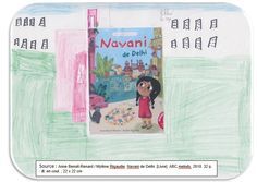 """Couverture réalisée par Chloé à partir du livre """"Navani de Delhi"""" par Anne-Benoît Renard. Pour voir mon livre, il faut cliquer sur mon dessin."""