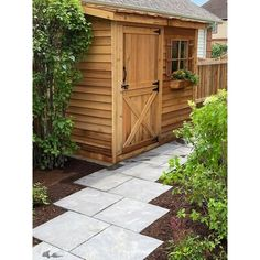 """Cedarshed This storage shed is an attractive and functional storage solution. It can be erected against a house or fence. This lean-to style yard shed has a compact size ideal for tool storage or for smaller gardening tools. What's Included? Size: 92.5"""" H x 109.5"""" W x 42"""" D Lean To Shed Kits, Shed Kits For Sale, Storage Sheds For Sale, Storage Shed Kits, Garage Storage, Tool Storage, Shed Storage Solutions, Storage Systems, Garden Shed Kits"""