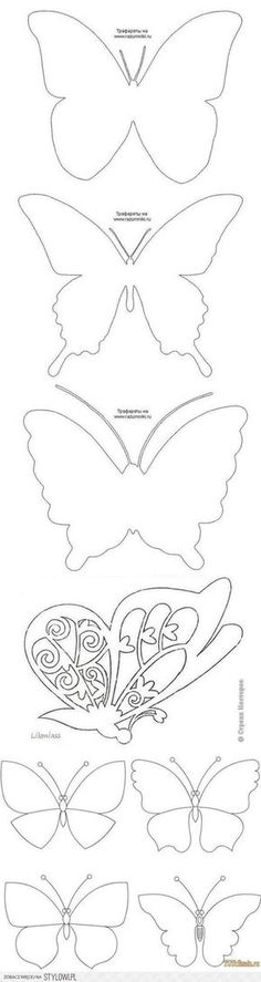 Butterfly template to color, appliqué, etc. Diy And Crafts, Crafts For Kids, Arts And Crafts, Paper Crafts, Butterfly Template, Butterfly Crafts, Crown Template, Butterfly Mobile, Heart Template