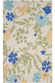Martha Stewart Living™ Flower Medley All Weather Area Rug   Floral Rugs    Outdoor