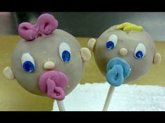 How to make cake pops. Babies cake pops. part 1