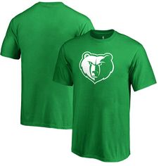 Memphis Grizzlies Fanatics Branded Youth St. Patrick's Day White Logo T-Shirt - Kelly Green