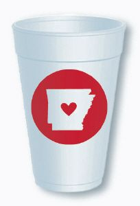 $7.99 for a sleeve of 10 cups #arkansas #love #state Order at shop@jchristophertoys.com