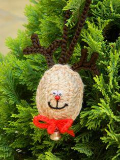 Crochet Christmas Tree Decoration Rudolph by benasworkshop on Etsy