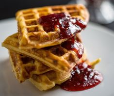 Yeast-risen waffles have a lovely, complex tang that works beautifully with whatever sweet topping you apply – honey, maple syrup, fruit jam You can make the batter the night before and let it rise in the refrigerator until breakfast time Or, it will rise at room temperature in a couple of hours, which makes these waffles a good choice for brunch