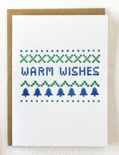 Warm Wishes Christmas Card