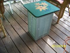 table i made from old shutters