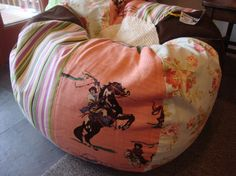 Vintage Style Shabby Chic Western Cowgirl Bean Bag by Paniolo, 140.00