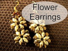 Beading Ideas - Flower earring ( whit Rulla y Superduo beads) - YouTube