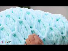 Alize Puffy ile Baklava Battaniye - DIAMONDS MODEL WITH ALİZE PUFFY - YouTube
