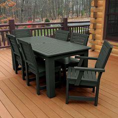 Highwood Eco-friendly Synthetic Wood Weatherly 7-piece Rectangular Dining Set (