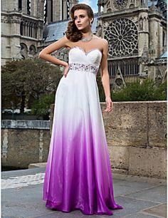 schede / column sweetheart vloer-length chiffon avond / prom dress