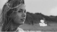 Sometimes the silence is better. #Cassie #Skins