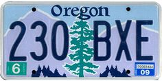 This is the official license plate for the state of Oregon as it has been officially adopted by the state legislature. Also known as a vehicle registration plate, it is used to identify the car and owner of a motor vehicle or trailer in the state. State Of Oregon, Oregon Usa, Cool License Plates, Licence Plates, U.s. States, United States, Vehicle Registration Plate, Visit Oregon, Retro