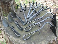 Forged garden tools.