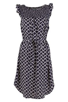 handpicked by birds Pintuck Printed Dress - Womens Knee Length Dresses - Birdsnest Online Store