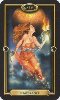 The energy is changing this week as we leave the fiery wands. Temperance from the Gilded Tarot by Ciro Marchetti:http://amethystmahoney.com/tarot-forecast-may-4-may-10/