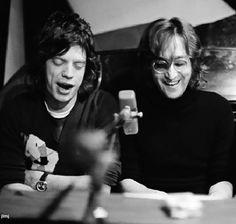 John Lennon and Mick Jagger
