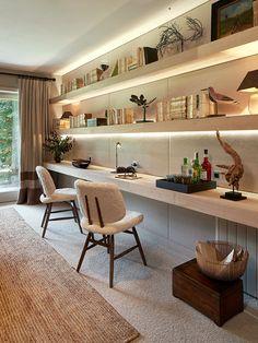 Study Room Design, Study Room Decor, Home Room Design, House Design, Modern Home Offices, Small Home Offices, Home Office Setup, Home Office Space, Office Ideas