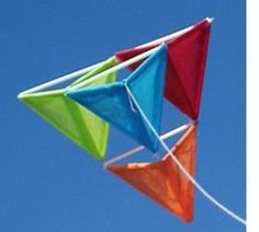 """""""How to Build a Pyramid Kite"""" is a tutorial I first posted on the web in 1993. Suitable for ages 7 and up with adult supervision, this is a simple kite design I learned as a kid."""