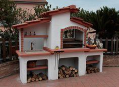 Iacoangeli - Forni - Camini - Cucine Simple Outdoor Kitchen, Patio Kitchen, Outdoor Oven, Gazebo, Four A Pizza, Rocket Stoves, Grill Design, Garden Living, Bbq Grill