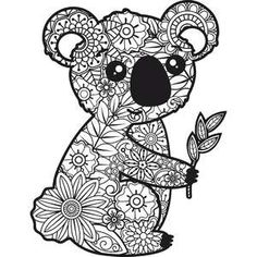 Silhouette Design Store - New Designs Coloring Pages For Grown Ups, Cool Coloring Pages, Animal Coloring Pages, Adult Coloring Pages, Coloring Books, Mandala Drawing, Mandala Art, Cut Out Art, Rock Crafts