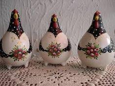 Resultado de imagem para artesanato com cabaças galinhas