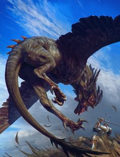 """Cockatrice The Witcher 3 Wild Hunt / Gwent Card.  A Cockatrice is an ornithosaur, also known as a """"skoffin""""."""