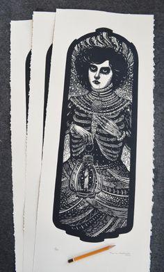 Xilogravura / woodcut76 x 28,5 cm