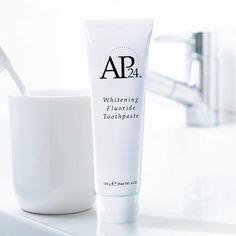 Nu Skin AP 24 Anti Plaque Fluoride Toothpaste Fresh New Nu Skin, Ap 24 Whitening Toothpaste, Nuskin Toothpaste, Skin Whitening, Skin Lightening Cream, Glycerin, White Teeth, Vanilla, Bad Breath
