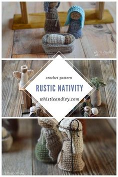 This pretty crochet nativity set is an elegant addition to your Christmas decor, yet prefect for little hands to play with as well. Designed with simple construction, this pattern is for advanced beginners!  #crochetnativity #christmascrochet Quick Crochet, Love Crochet, Learn To Crochet, Crochet Gifts, Crochet For Kids, Beautiful Crochet, Crochet Dolls, Crochet Yarn, Crochet Children