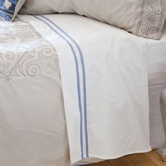 Blue-Striped Percale Bedlinen | ZARA HOME België / Belgique