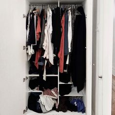 """LET'S TALK ABOUT WARDROBES.. I recently asked how your wardrobe was looking and 89% said """"It's a bit confused."""" After exploring a little… Wardrobes, Confused, Wardrobe Rack, Exploring, Let It Be, Tips, Furniture, Home Decor, Style"""