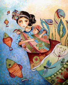 Bambino e la madre di Maya folktales di claudiatremblay su Etsy