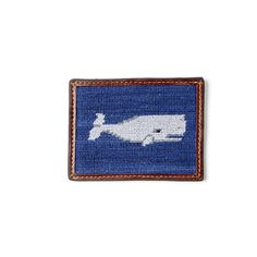 Smathers&Branson - Whale Needlepoint Credit Card Wallet