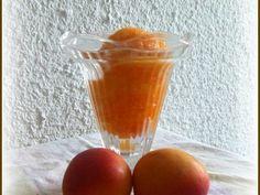 Sorbet à l'abricot, Recette Ptitchef Sans Gluten Vegan, Sorbets, Nutrition, Calories, Hurricane Glass, Pudding, Tableware, Desserts, Food
