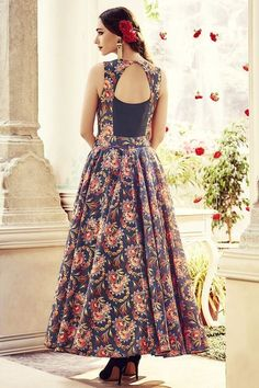 Picture of A mesmerizing black Indo-western anarkali suit Indian Gowns, Indian Wear, Indian Outfits, Ethnic Fashion, Indian Fashion, Mode Hijab, Kurta Designs, Western Dresses, Indian Designer Wear