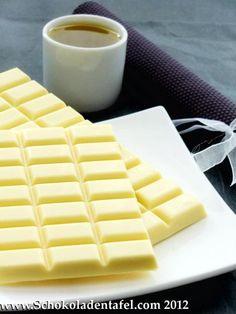 Weiße Schokolade mit Olivenöl und Vanille; White Chocolate with olive oil and vanilla
