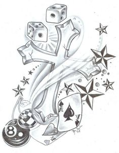 New school tattoo flash and art - tattoo flash Star Tattoo Designs, Tattoo Design Drawings, Tattoo Sketches, Celtic Tattoos, Star Tattoos, Sleeve Tattoos, Watch Tattoos, Tattoo Symbols, Body Tattoos
