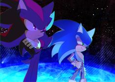 sonic and shadow by holoskas on DeviantArt