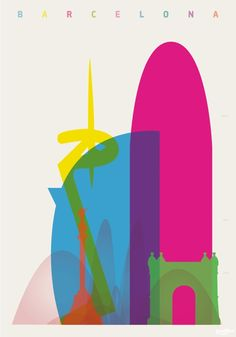 Arte y Arquitectura: Coloridos Carteles muestran la Silueta de Cada Ciudad comparando las alturas de sus edificios