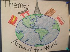 Around the world pre-k and preschool theme Keep Calm and Teach On Around The World Crafts For Kids, Around The World Theme, We Are The World, Preschool Social Studies, Preschool Themes, Preschool Activities, Multicultural Activities, France Craft, Summer Camp Themes