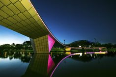 New Riverbank Bridge, Adelaide, Australia. Parts making a whole; a colorful aesthetic structure in the Australian transportation realm.